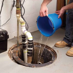 clean sump pump